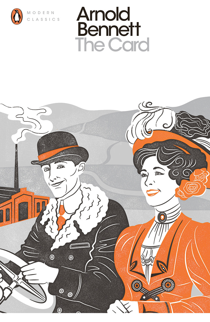 Susan Burghart, Screen print render black and orange book cover of a Victorian couple