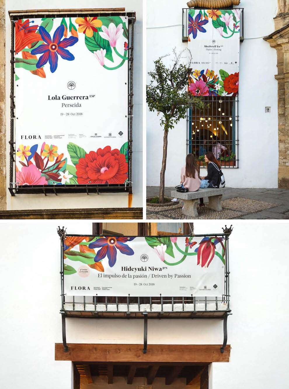 Tatiana Boyko, In situ photographs of botanical illustration used as branding for a floral festival