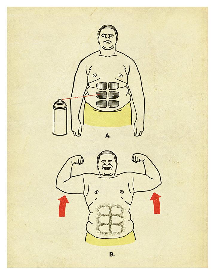 Tobatron, Infographic illustration