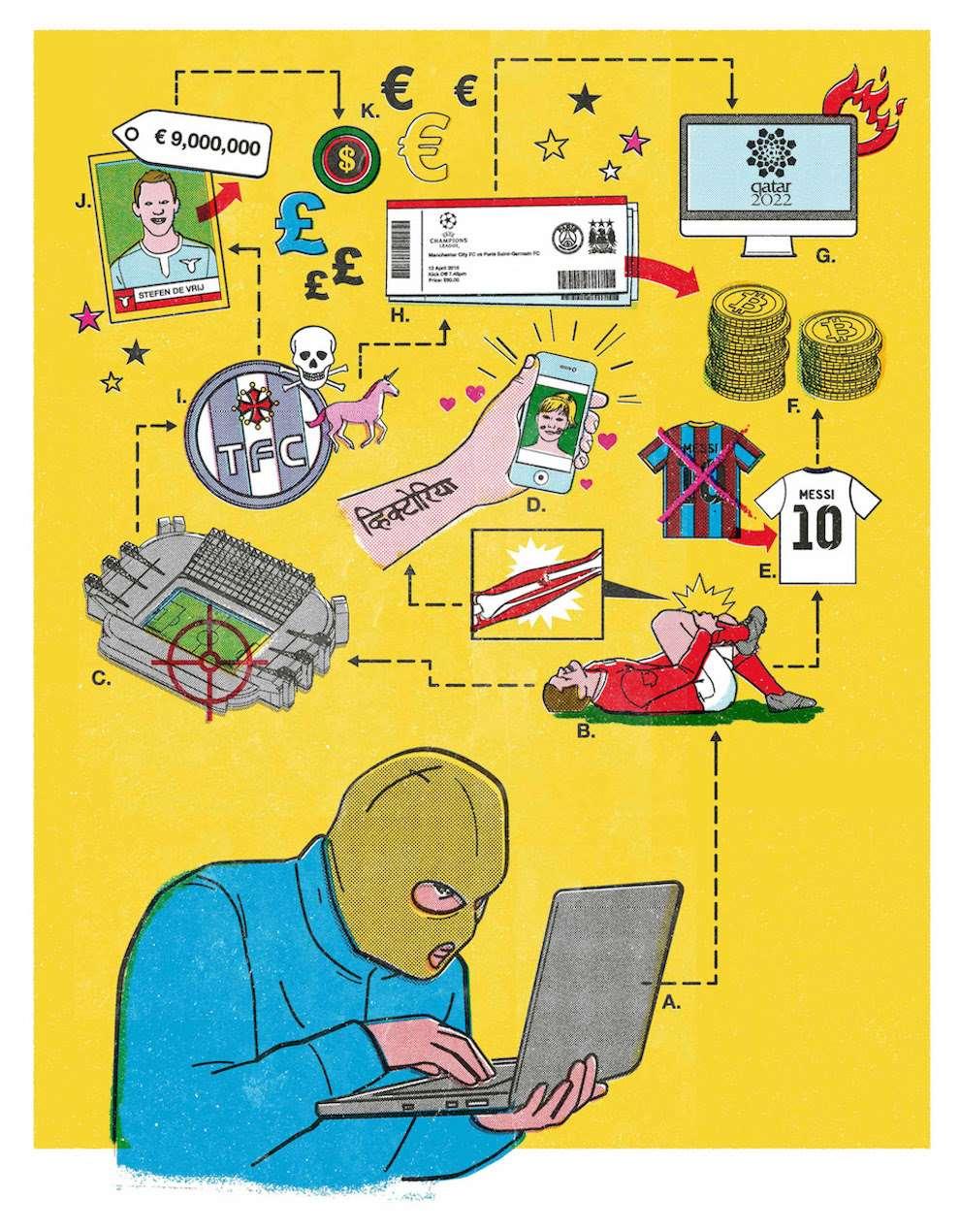 Tobatron, humorous infographic illustration