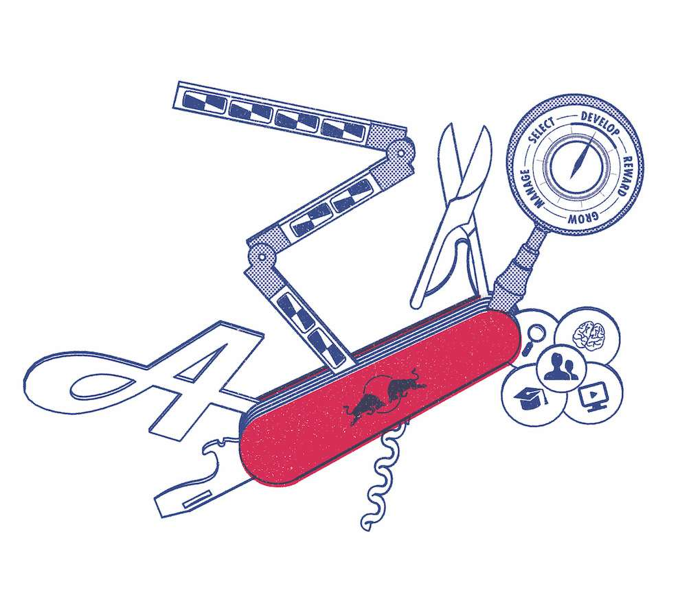 Tobatron, Infographic illustration of a swiss knife