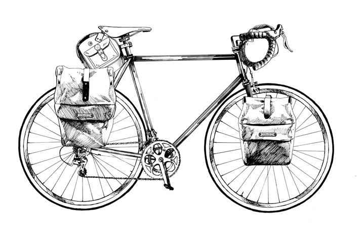 Ulla Puggaard, pencil bike illustration