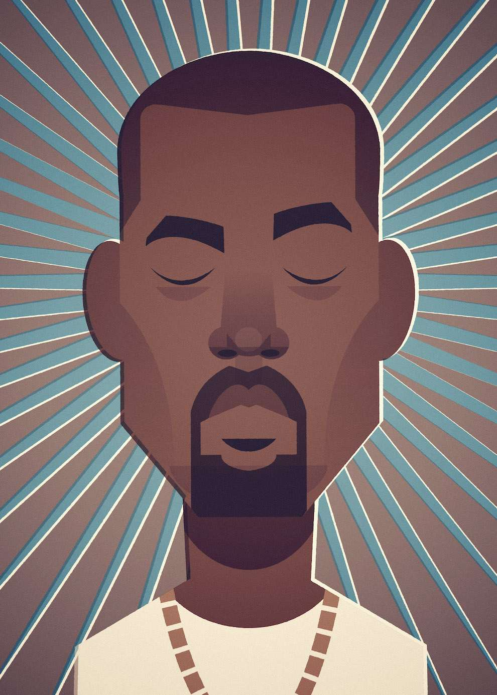 Stanley Chow, Minimal and graphic portrait of Kanye West