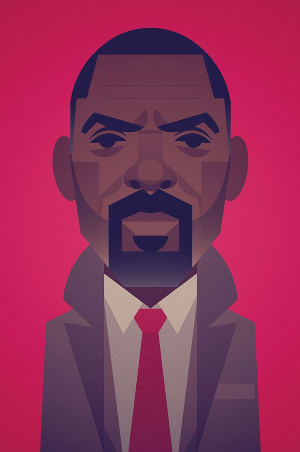 Stanley Chow, Bold digital minimal portrait of idris elba