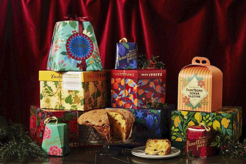Tatiana Boyko, Carluccio product shot of panetone. Series of digital botanical patterns