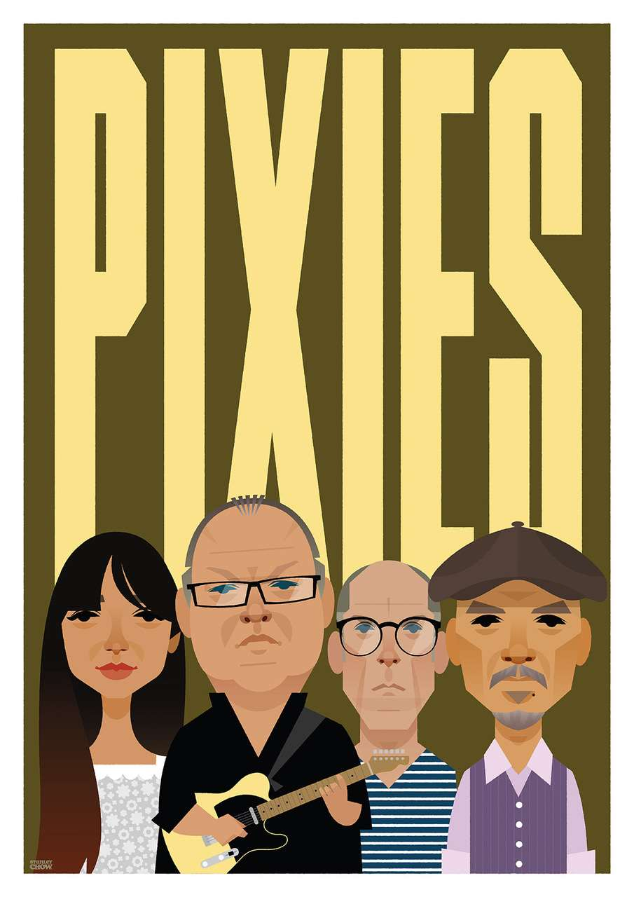 Stanley Chow, Bold and graphic poster of the music band the Pixies.