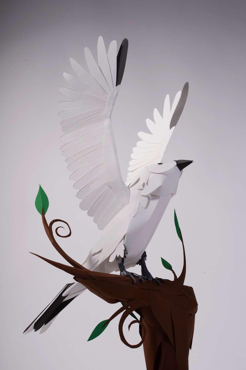 Andy Singleton, 3D paper bird