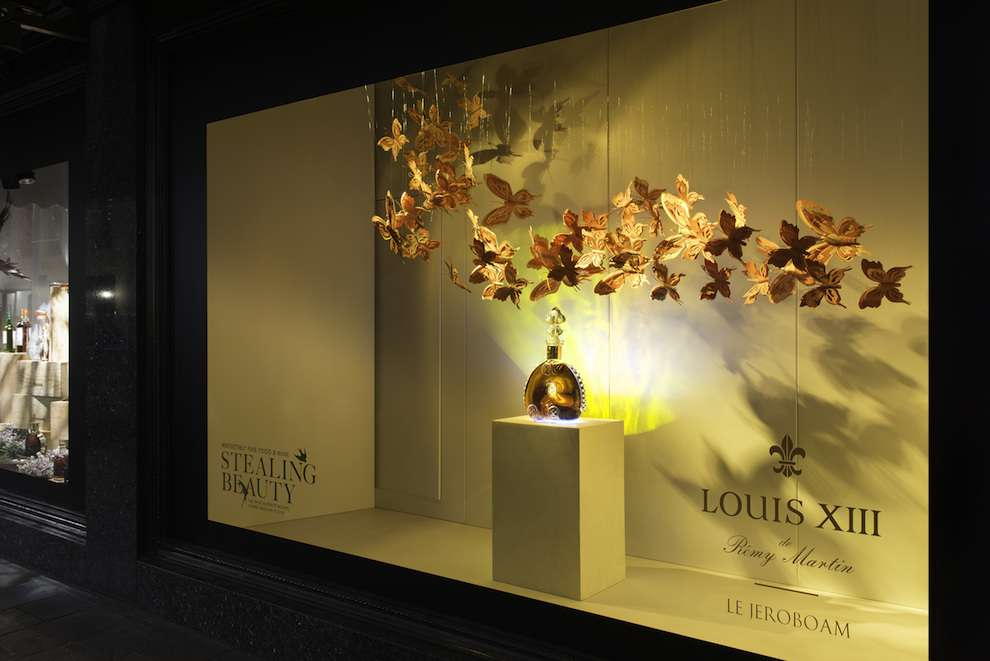 Andy Singleton, Paper Craft butterflies for a window display advertising a parfum