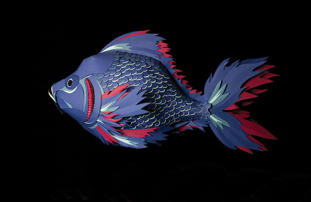 Andy Singleton, Paper sculpture of a fish