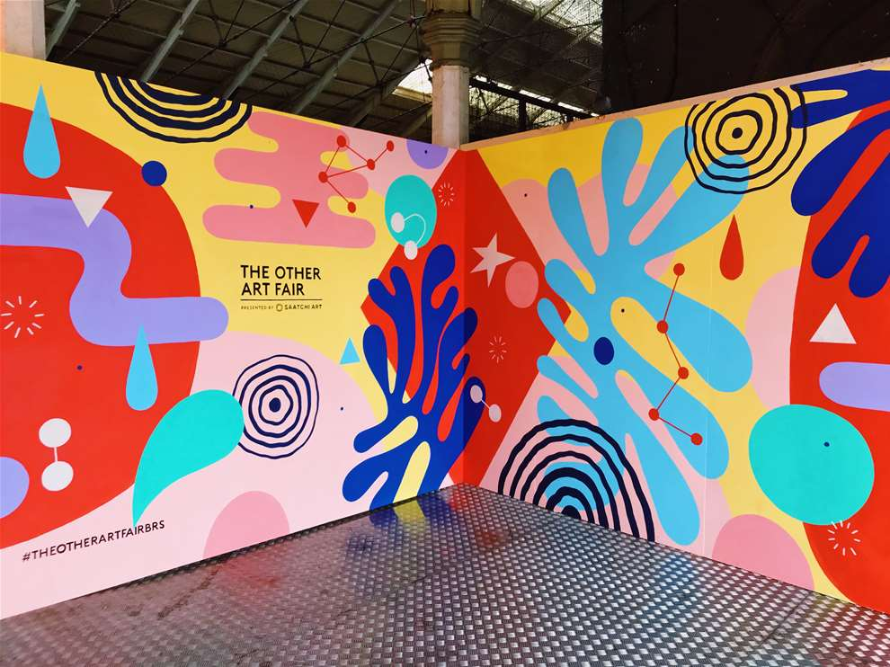 Anna Higgie, The other art fair. Handpainted geometric pattern mural