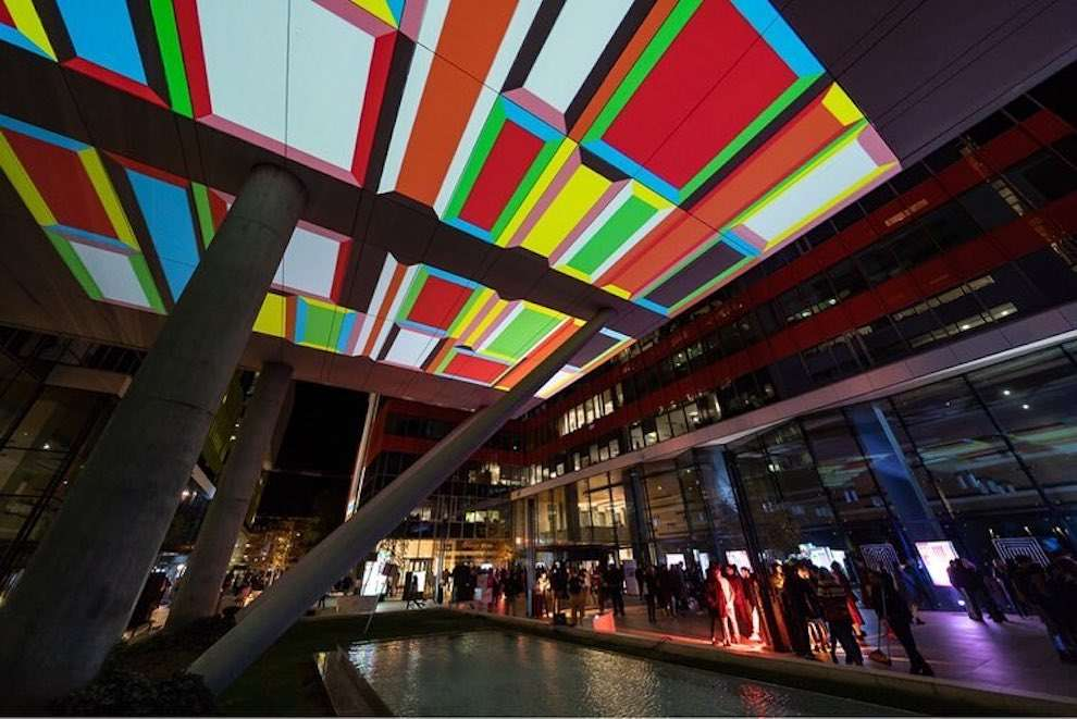 Kitra, Design projection on roof