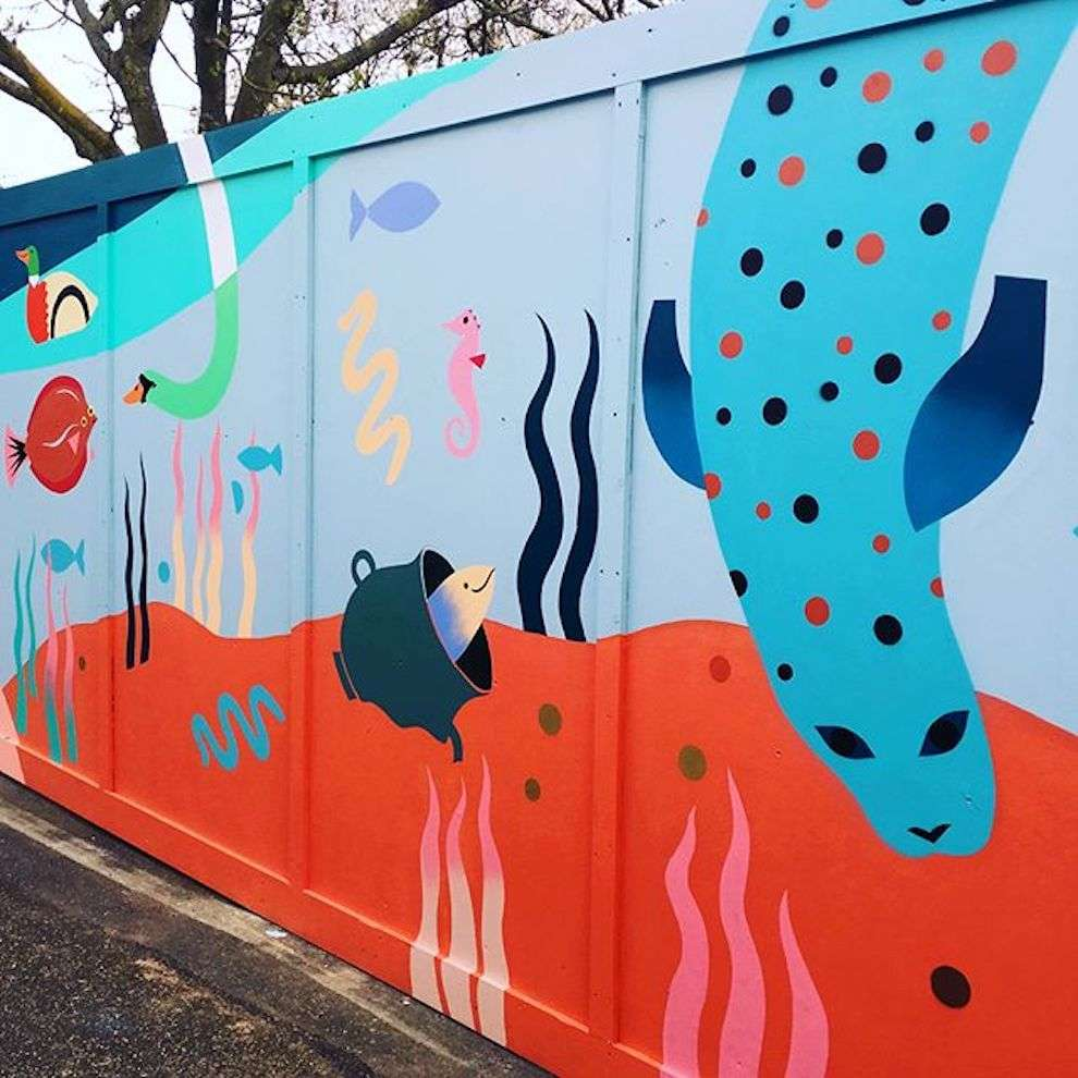Margaux Carpentier, Handpainted mural for London Zoo
