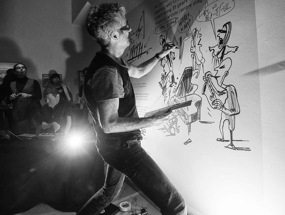Simon Spilsbury, Live drawing event