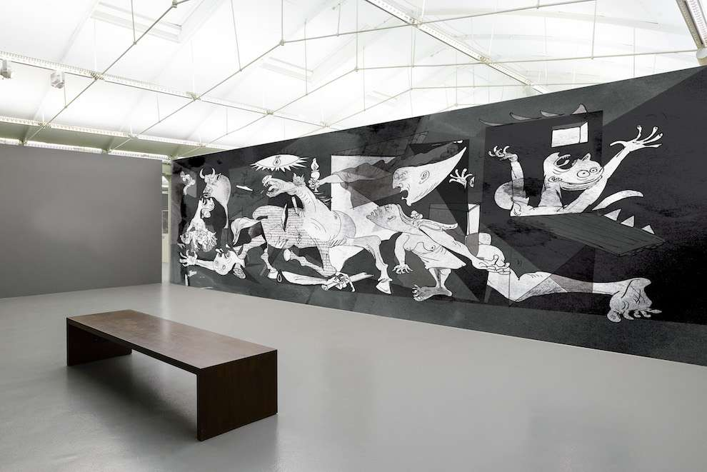 Simon Spilsbury, Mural postiche of Guernica by Picasso