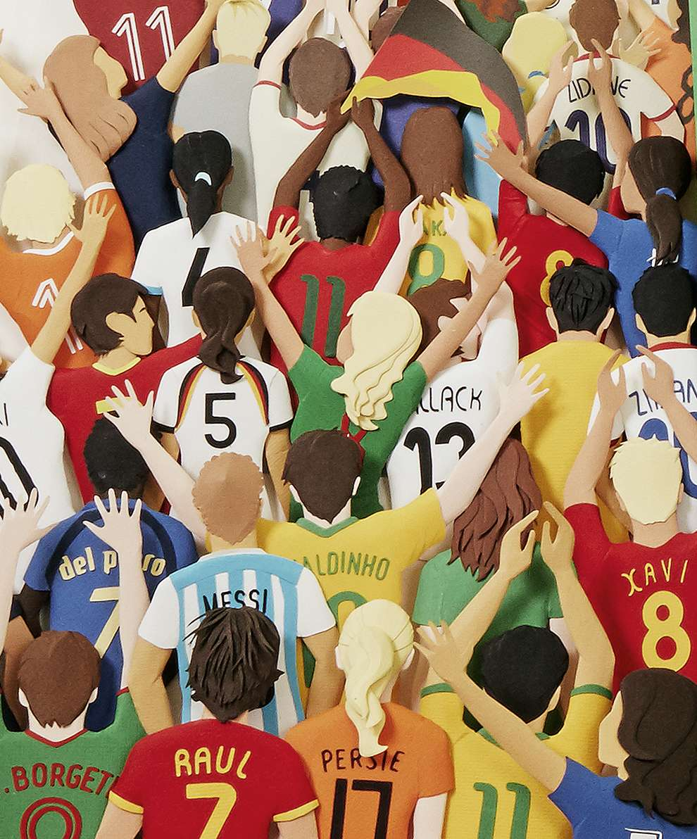 WRK, Paper illustration of football supporters