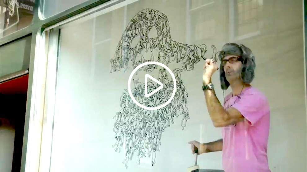 Simon Spilsbury, Live window drawing
