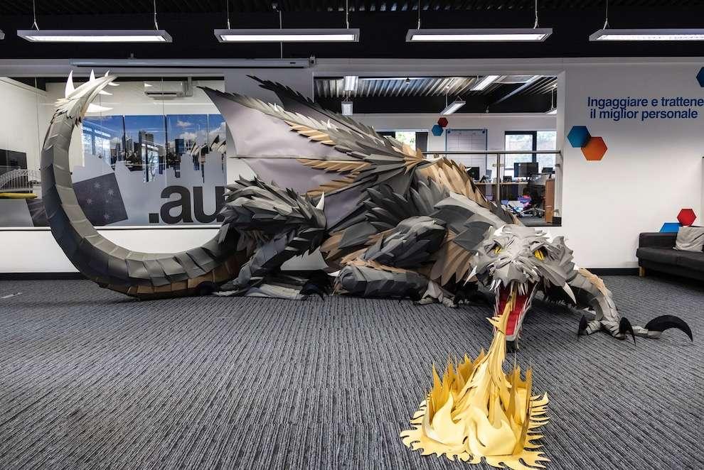 Andy Singleton, Dragoon paper sculpture