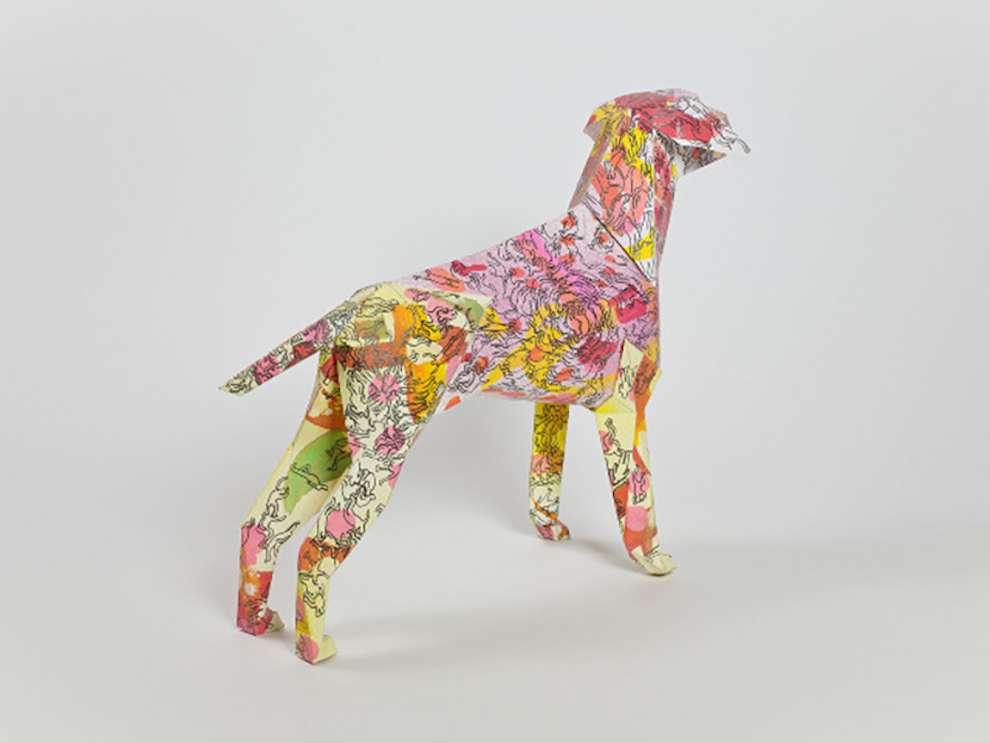 Simon Spilsbury, Dog sculpture cover by Simon Spilsbury's illustrations
